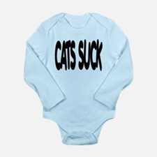 Cats Suck Long Sleeve Infant Bodysuit