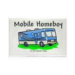Mobile Home Boy Rectangle Magnet