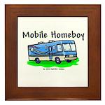 Mobile Home Boy Framed Tile