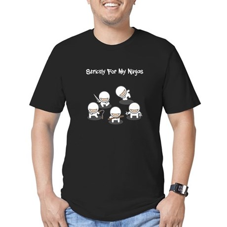 Strictly Ninjas Men's Fitted T-Shirt (dark)