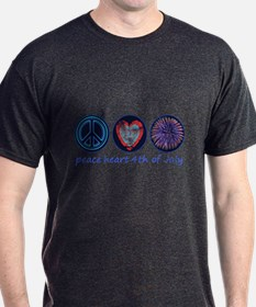 PEACE HEART 4TH OF JULY T-Shirt