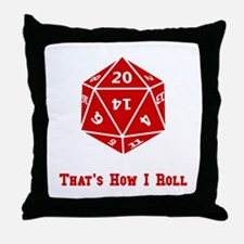 20 Sided Roll Throw Pillow