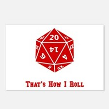 20 Sided Roll Postcards (Package of 8)