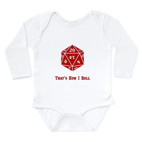 20 Sided Roll Long Sleeve Infant Bodysuit