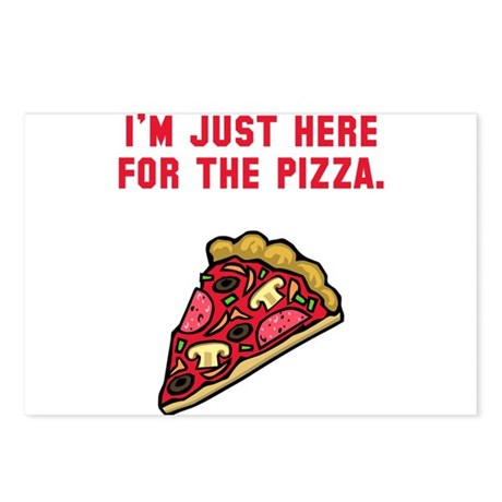 Here For The Pizza Postcards (Package of 8)