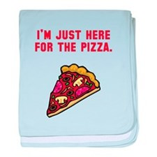 Here For The Pizza baby blanket