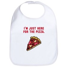 Here For The Pizza Bib