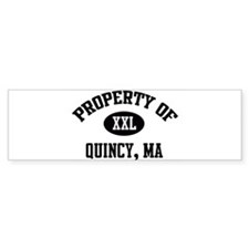 Property of Quincy Bumper Bumper Sticker