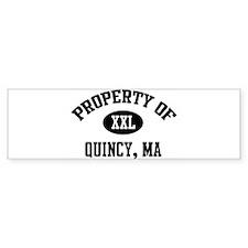 Property of Quincy Bumper Bumper Sticker