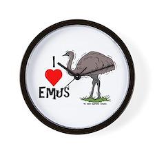I Love Emus Wall Clock
