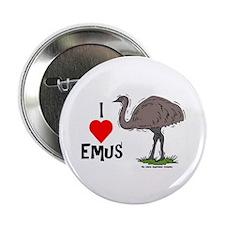 I Love Emus Button