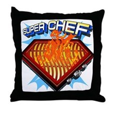 Super Chef Power! Throw Pillow