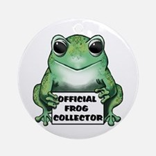 Frog Collector Ornament (Round)