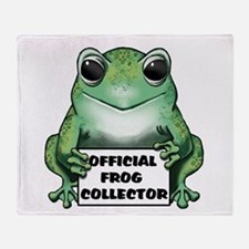 Frog Collector Throw Blanket