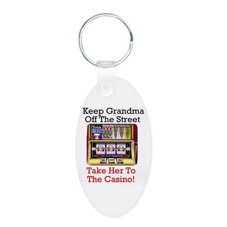 Keep grandma off the street, casino Keychain