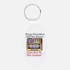Keep grandma off the street, casino Keychain