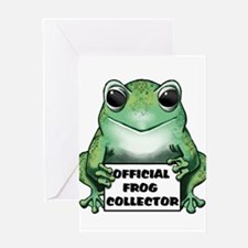 Frog Collector Greeting Card
