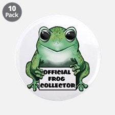 """Frog Collector 3.5"""" Button (10 pack)"""