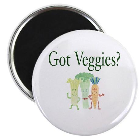 "Got Veggies? Vegetarian 2.25"" Magnet (100 pack)"