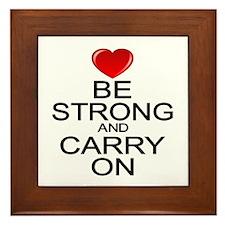 Be Strong Carry On Framed Tile