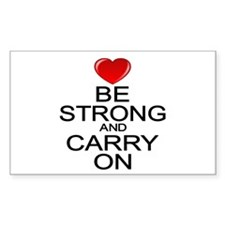 Be Strong Carry On Decal