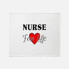 Nurse For Life Throw Blanket