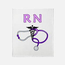 RN Nurse Medical Throw Blanket