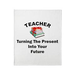 Teachers Present Throw Blanket