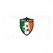 Ireland Soccer Patch Aluminum License Plate