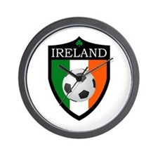 Ireland Soccer Patch Wall Clock
