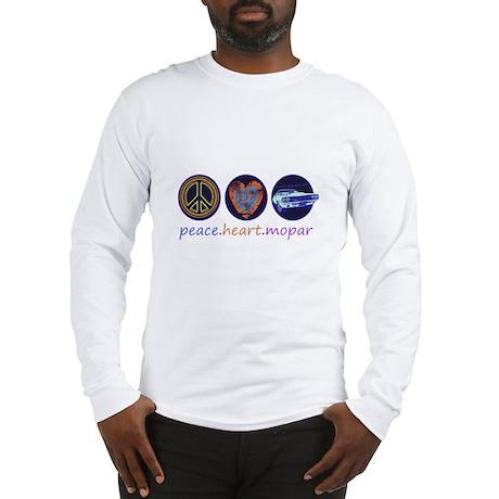 PEACE HEART MOPAR Long Sleeve T-Shirt
