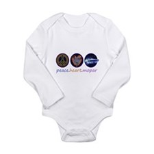 PEACE HEART MOPAR Long Sleeve Infant Bodysuit