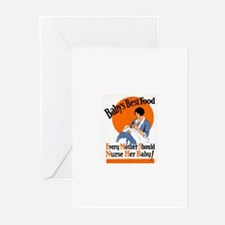 Baby's Best Food (AMA Poster) Greeting Cards (Pk o