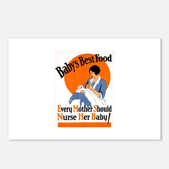 Baby's Best Food (AMA Poster) Postcards (Package o