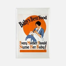 Baby's Best Food (AMA Poster) Rectangle Magnet (10