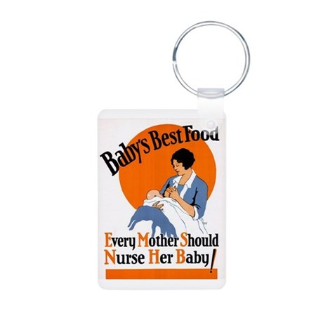 Baby's Best Food (AMA Poster) Aluminum Photo Keych