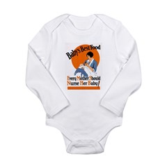 Baby's Best Food (AMA Poster) Long Sleeve Infant B