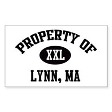 Property of Lynn Rectangle Decal