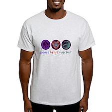 PEACE HEART BASEBALL T-Shirt