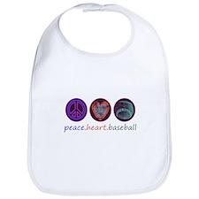 PEACE HEART BASEBALL Bib