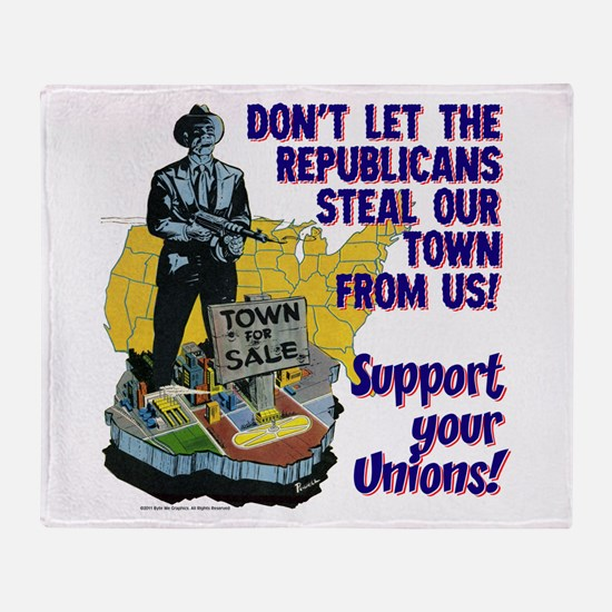 $59.99 Support Your Unions! Throw Blanket