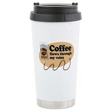 Coffee in my veins Travel Mug