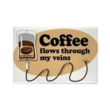 Coffee in my veins Rectangle Magnet