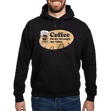Coffee in my veins Hoodie