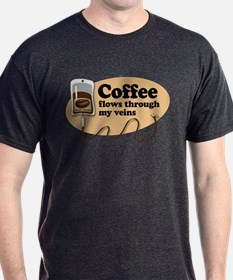 Coffee in my veins T-Shirt