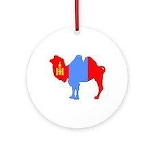 Mongolian Camel Ornament (Round)
