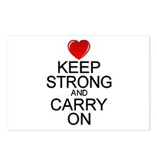 Keep Strong Carry On Postcards (Package of 8)