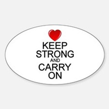 Keep Strong Carry On Sticker (Oval)
