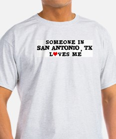 Someone in San Antonio Ash Grey T-Shirt