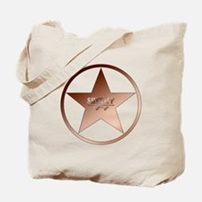 Sheriff Badge Tote Bag